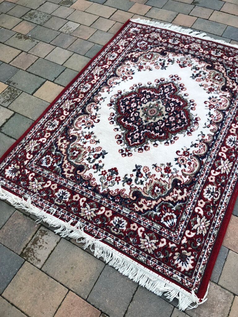 Wool Rug Good Condition Great Colours Size L 64in X W 48in Feel