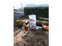 Bags of hardwood (logs)