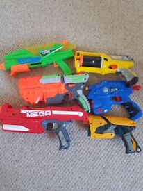 5 Nerf Guns