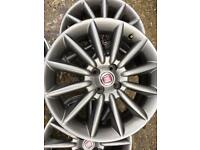 """17"""" fiat alloy wheels. Collection only"""