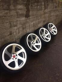 """19"""" 3sdm 0.06 wheels and tyres 5x112"""