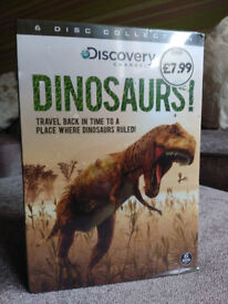 BRAND NEW, SEALED, 6 DISC discovery channel DINOSAUR DVD, £2.00
