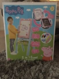 Brand new sealed in box Peppa pig 2 in 1 easel