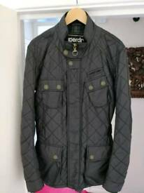 Mens superdry motorbike trials jacket black XL.
