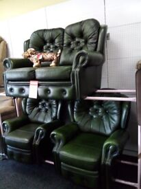 Saxon chesterfield sofa recliner chair s