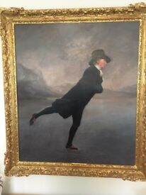 The Skating Vicar - oil on canvas copy of the above painting by Anne Wright RBA