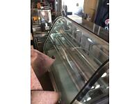 Refrigerated counter.