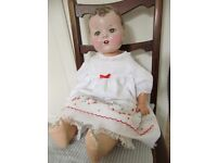 1940s doll beautifully restored and adorable