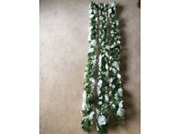 NEW BEAUTIFUL SILK IVORY & WHITE ROSE GARLANDS 5' LONG X 8