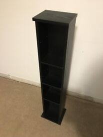 CD and DVD storage tower (black)