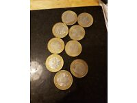 mixture of £2 and 50p coins