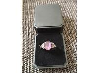 Genuine silver amethyst ring for sale (925)