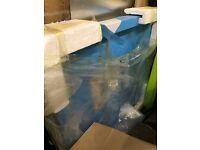 900 x 900mm white ceramic shower tray