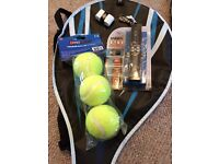 Tennis racquet and accessories