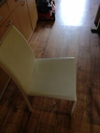 6 faux leather chairs excellent condition