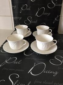 Wedgewood cups and saucers x4