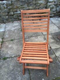 Wooden garden chairs x 2