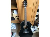 Fender acoustic guitar black
