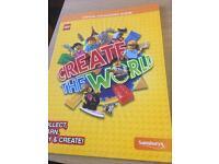 Lego Create the world official album Sainsbury's