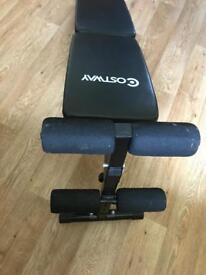 Exercise weights bench.