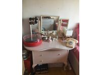 Vintage 1960s Pink Dressing Table