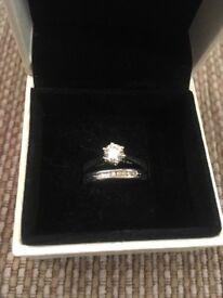 Diamond Platinum wedding ring. £350