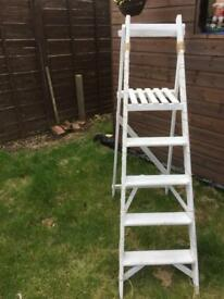 White wooden step ladder, wedding shabby chic