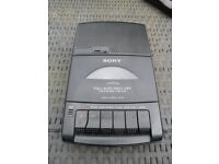 Cassette Tape Player and Recorder Portable Sony Model TCM-939 Good Working Condition New Batteries