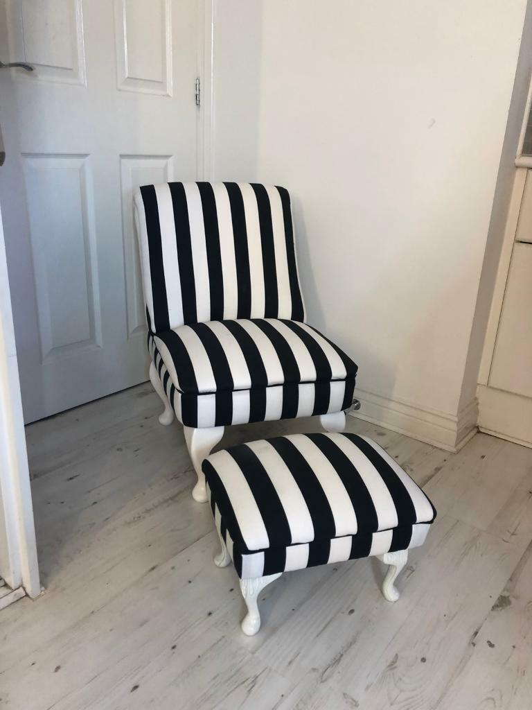 Black White Stripe Chair In Bathgate West Lothian Gumtree