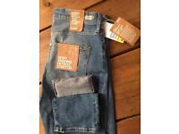 H&M Dark Denim Ripped Skinny Blue Jeans