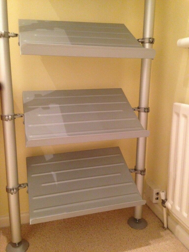 Stolmen Ikea Shoe Rack Floor To Ceiling Excellent Condition Aluminium Posts 7 Racks
