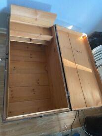 Wooden storage chest