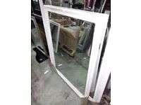 105cm x 138cm Off White Ornate Framed Mirror, £50