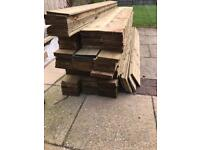 Featheredge fence boards