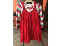 Next girls red dress