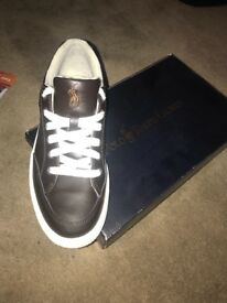 Ralph Lauren polo trainers. Size 7.5