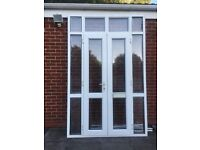 UPVC DOUBLE GLAZED PORCH DOOR+SIDE&TOP PANELS 162CM W 253CM H - can deliver