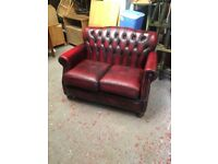 Ox blood chesterfield