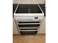 Electric Cooker - MUST GO TODAY (Hotpoint Electric Cooker in White, Ceramic Hob Double Ove