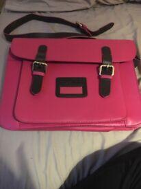 Joules pink satchel