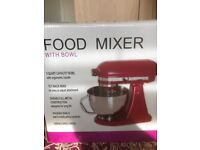 Red food mixer brand new
