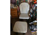 Dutalier nursing chair and stool very good conditon