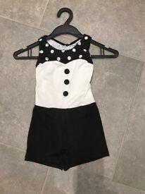 Girls black and white tap/modern leotard
