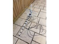 Large TV Ariel with 5m of coaxial cable