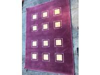 2 next dusky pink rugs
