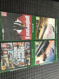 Game Xbox one Gta V. .Wolfenstain 2. forza 2 .forza3