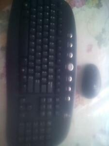 Wireless keyboard for computer