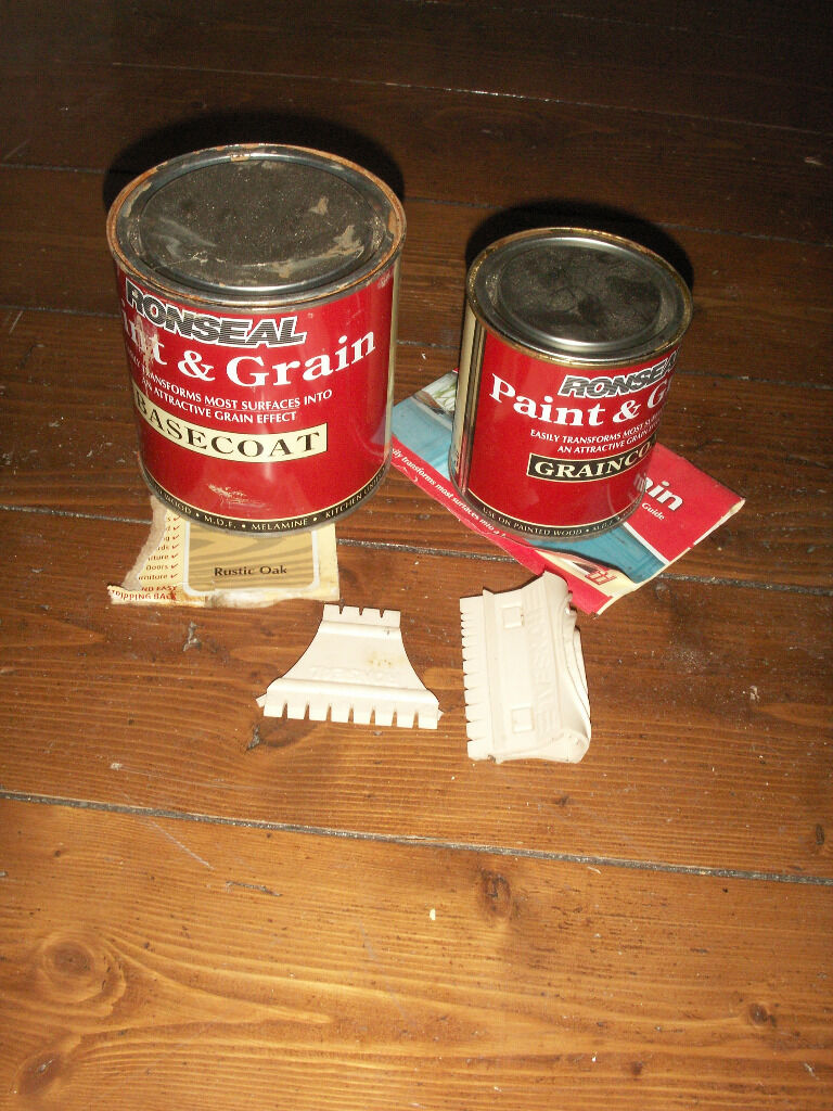 Part Used Ronseal Paint And Grain Rustic Oak Wood