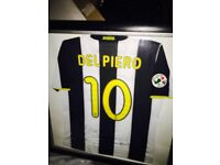 MATCH WORN AND SIGNED DEL PIERO SHIRT IN FRAME
