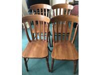 4 high quality wooden dining/kitchen chairs